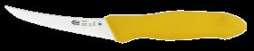Нож разделочный MORA Frosts CB5SF-E обвалочный изогнутый (жёлтый)